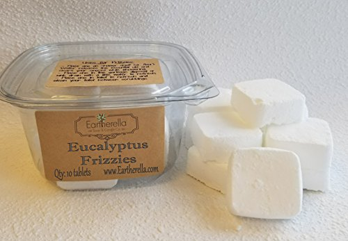 Eucalyptus Shower FRIZZIES Steamers essential oil by Eartherella Soap & Candle Co.