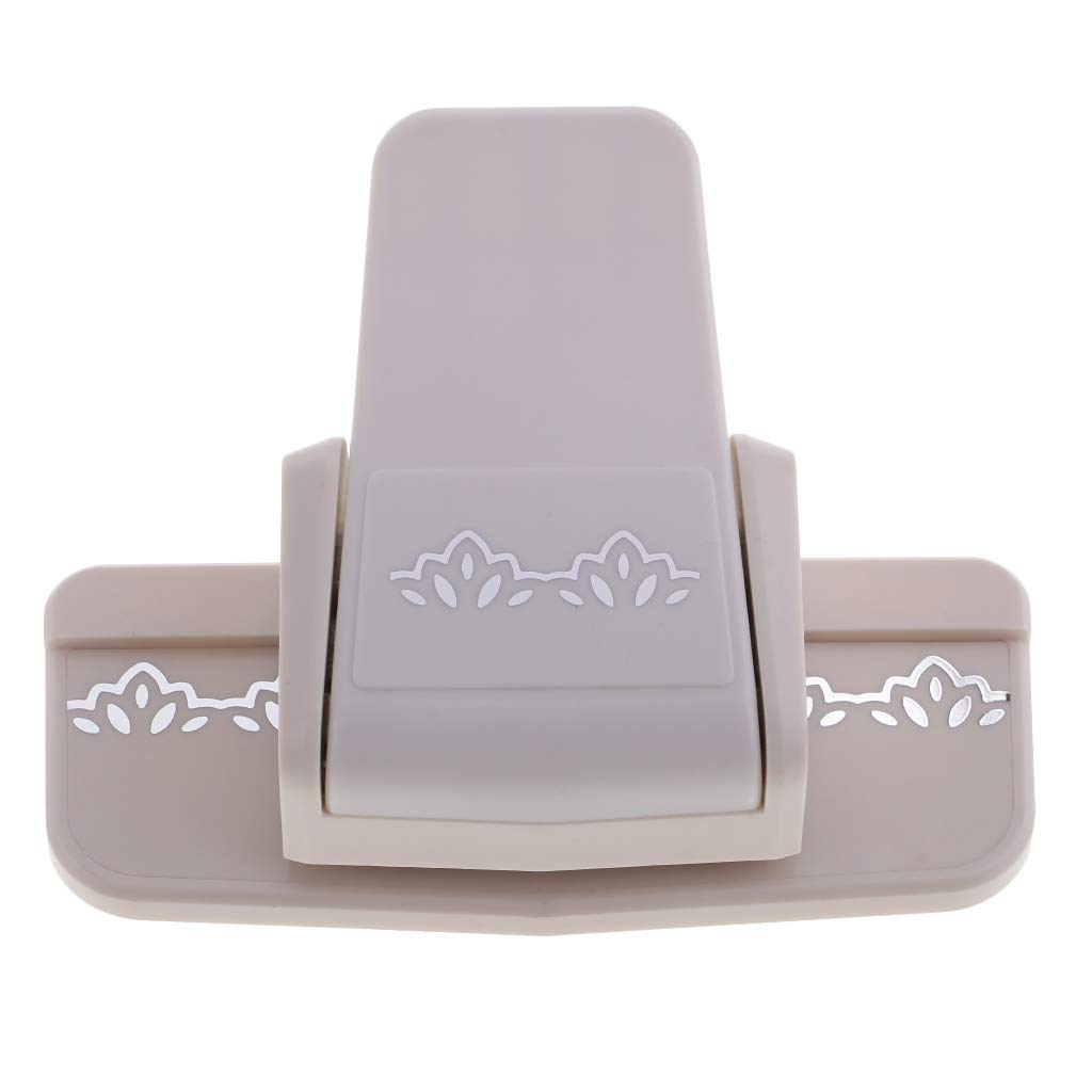 Fenteer Border Punch Paper Punch with Cute Flower Pattern Edge Scroll Punch for Scrapbook Hobby Craft DIY Scrapbook Cards Photo Light Brown Paper Puncher