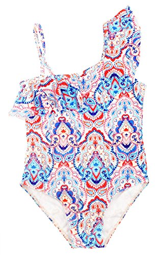 Beautiful Swimsuit - Happy Cherry Bikini Swimsuit 2018 Baby Girl One Piece Beautiful Paisley Pattern Swimsuit Jumpsuit Bikini Anti-UV Swimwear for 4-5T