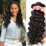 Donmily 8A Remy Brazilian Natural Wave Hair 3 Bundles 100% Unprocessed Brazilian Virgin Human Hair Weft Cheap Wavy Hair Weave Natural Color (20 22 24) Review