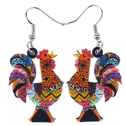 Acrylic Drop Chicken Earrings 2018 News Design Lovely Gift For Girl Women By The Newei