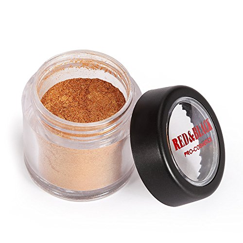 Red&Black Shimmer Eyeshadow Powder Glitter Shimmer Pearl Dust Powder for Face and Body 3g (Gold Brown)