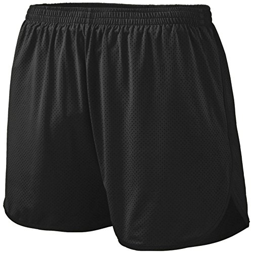 Augusta Athletic Solid Split Short - Youth, Black, Medium by Augusta Athletic