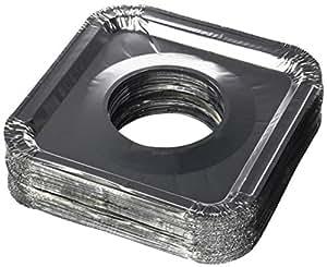 Aluminum Foil Square Gas Stove Burner Covers Pack Of 100