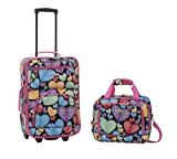 Rockland 2 Piece Luggage Set, Newheart, One Size