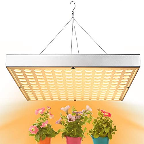 Grow Light for Indoor Plants Clip Lamps IR UV Red and Blue Spectrum for Plant Succulents, Cactus, Micro Greens, Seedlings – 60W Three Head 60 LED, 5W Dimmable Levels – 3 Switch Modes and Sun Timing