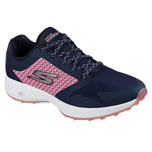 Skechers Performance Women's Go Eagle Lead Golf-Shoes,navy/pink,6 M US