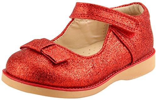 Red Glitter Toddler Shoes (The Doll Maker Girl`s Glitter Mary Jane-FBA173040E-8)