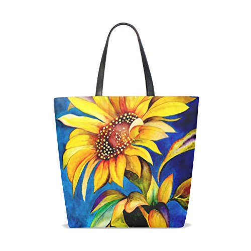Multi1 Hengpai Purse Girls Shoulder Women Bag Bag Sunflower Art Tote for Retro 16WS7P1q