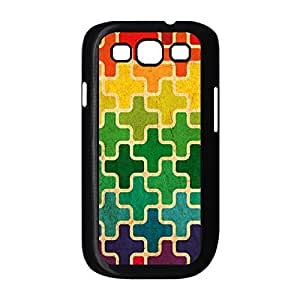 Hard Shell Back Case for Samsung Galaxy S3 I9300,Abstract Colors Snap On Guard Design Case For Samsung Galaxy S3 I9300(Black 102138) by supermalls