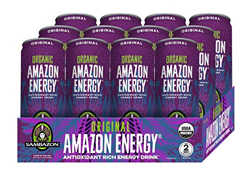 (Sambazon Amazon Energy Drink, Original Acai Berry, 12 Ounce (Pack of 12))