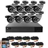 Best Vision 16CH 4-in-1 HD DVR Security Camera System (1TB HDD), 8pcs 2MP High Definition Outdoor Cameras with Night Vision - DIY Kit, App for Smartphone Remote Monitoring