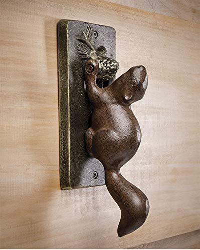 Orvis Cast Metal Door Knocker, Squirrel