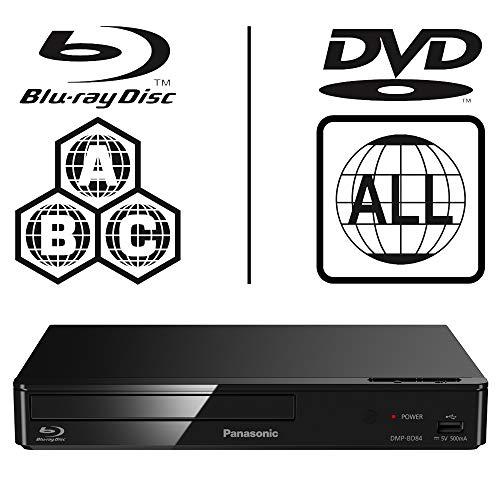 Panasonic DMP-BD84EB-K Smart ICOS Multi Region All Zone Code Free Blu-ray Player. Blu-ray zones A, B and C, DVD regions…