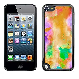 Jordan Colourful Shop - Mystical Abstract Watercolor Art For Apple iPod Touch 5 Custom black plastic Case Cover