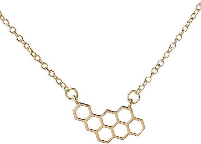 Gold Card Crystal Geometric Pendant Women Men Necklace Choker Chain Jewelry Gift