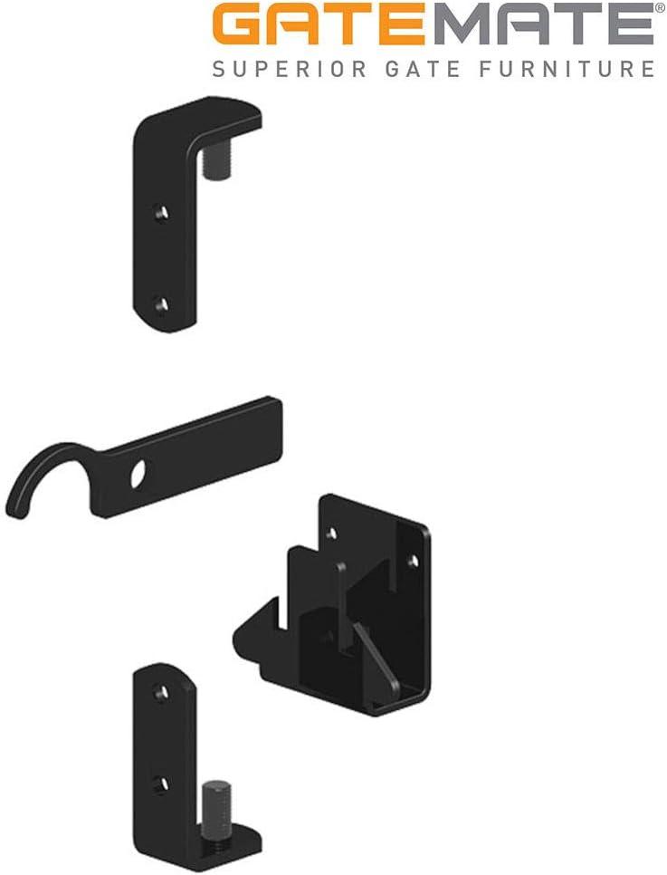 Gatemate Wrought Iron Gate Hinges Fixing Kit Galvanised And Powder Coated Black Fixings