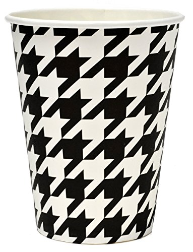 Black and White Check Party Cups (Hot/Cold, 12
