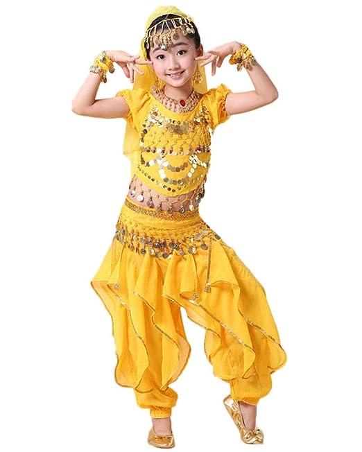 Lishui Disfraces para Niña Danza del Vientre Trajes India ...