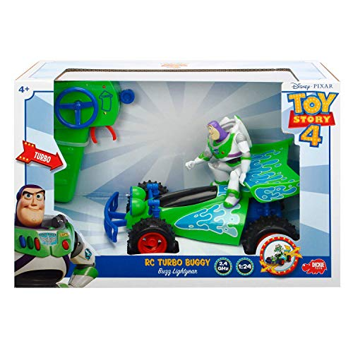 Jada Disney Pixar Toy Story 4 Turbo Buggy W/Buzz Lightyear Radio Control Vehicle, 2.4 Ghz, 1: 24, Multi