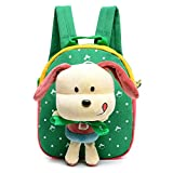Skyflying 3D Removable Puppy Doll Kids Backpack Animal Baby Boys Girls Kids Bag Green