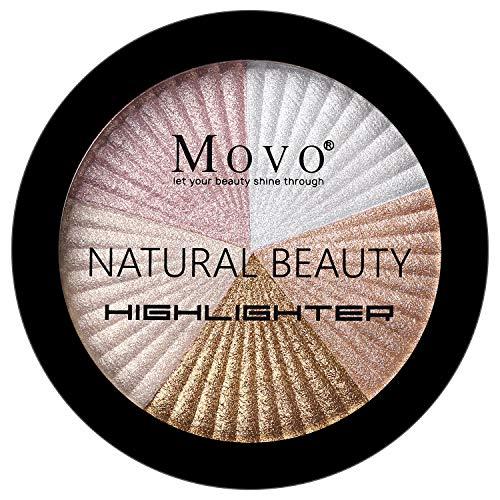 Highlighter Powder Makeup Palette – 5 Shades Lasting Shimmer Powder Face Illuminator Highlighter, Glow Bronzer Powder…
