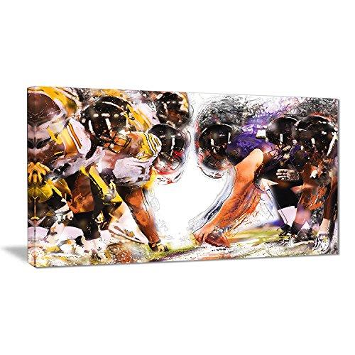 Digital art PT2548-32-16 Football Hut - Large Sport Canvas Art Print, 32x16