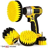 4Pcs Grout Power Scrubber Cleaning Brush Tub Cleaner Combo Tool Kit Yellow