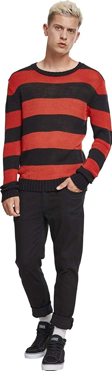 Urban Classics Striped Knit Sweater Pullover