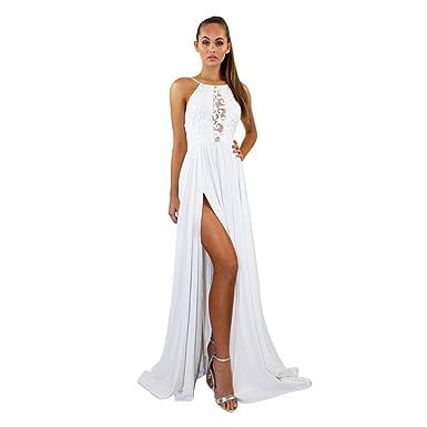 competitive price 5dfce 314d0 ZKOOO Maxi Vestiti Donna Sera Vestito Spaghetti Strap Lungo Abito Sexy  Backless Vestito da Cerimonia Party Dress Elegante