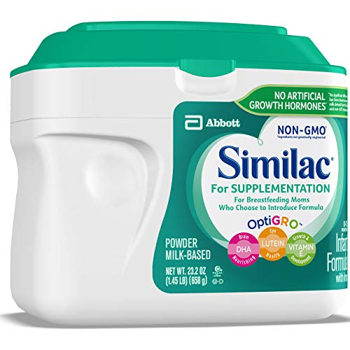 Similac For Supplementation Non-GMO Infant Formula with Iron, Powder, 23.2 Ounces (Pack of 4) by Similac (Image #7)