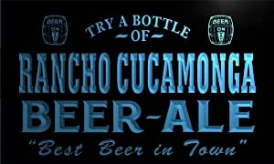 pn2192-b Rancho Cucamonga Best Beer Ale in Town Bar Pub Neon Light Sign