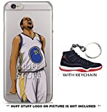 iPhone Case Huff_Stuff Ultra Slim Transparent With Keychain BRED MJ11 [NBA Player] Soft TPU Protective Case Cover for Apple iPhone 5/5s/SE 6/6s 6/6s Plus 7/7s 7/7s Plus (7/7s, Kevin Durant)