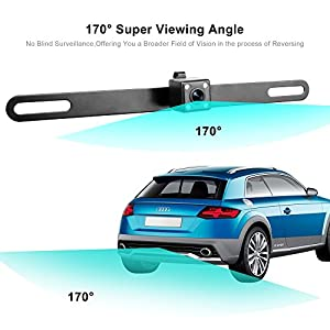 Vehicle Backup Camera, HD Car Front Rear View Camera with 4 Infrared LED Lights Night Vision Auto Parking Reverse 170 Degree Wide Viewing Angle Waterproof - VENAS
