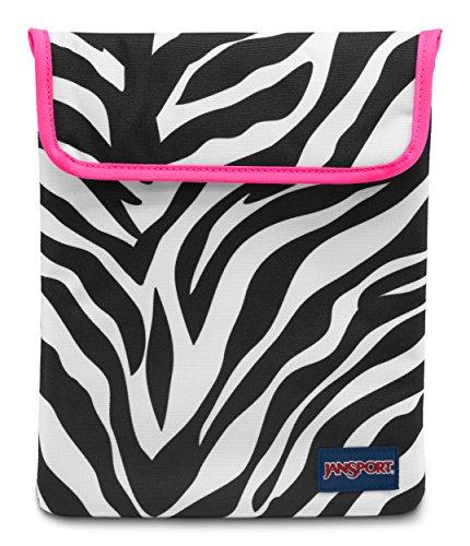 (Jansport - 1.0 Tablet Sleeve, Size: O/S, Color: Black/White/Fluorescent Pink Miss Zebra)