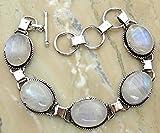 11.50Gms,7.80 Ctw Genuine Gemstone 925 Sterling Silver Overlay Handmade Fashion Bracelet Jewelry