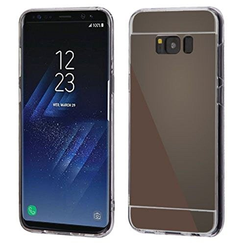 Price comparison product image MyBat Gummy Cover (with Package) - Samsung Galaxy S8 Plus - Jet Black/Transparent Clear