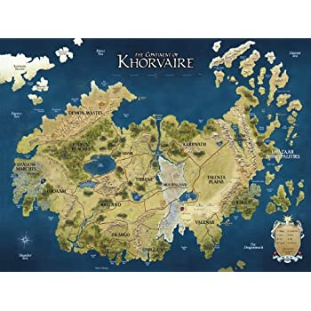 Great Du0026D Map Khorvaire Fantasy Dungeons U0026 Dragons 32x24 Print Poster