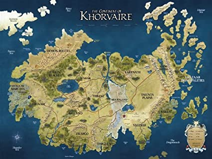 Dungeons And Dragons Maps Amazon.com: D&D Map Khorvaire Fantasy Dungeons & Dragons 32x24