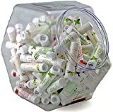 120 Pack Bulk All-Natural Lip Balms in Larg-Fishbowl by Naturistick, Best Chapstick for Dry, Chapped Lips, 4 Soothing Flavors with Aloe Vera, Vitamin E, Coconut Oil for Men, Women and Kids, Made in US