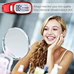 Skin Care Moisture Analyzer Tester, Archeer Digital Skin Sensor Tester Pen Facial Moisture Water Oil Monitor Tracker with LCD Display for Beauty Salon Spa Home Traveling