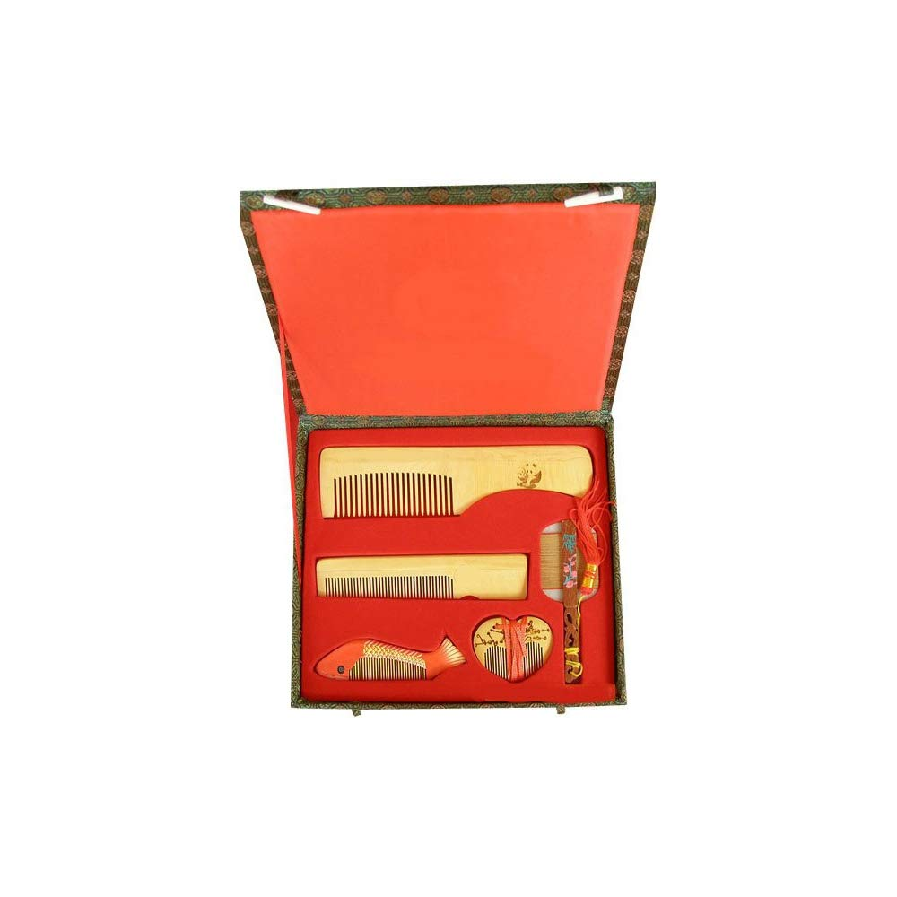 MKQLT Five-piece boxwood box with special gifts for wedding or business