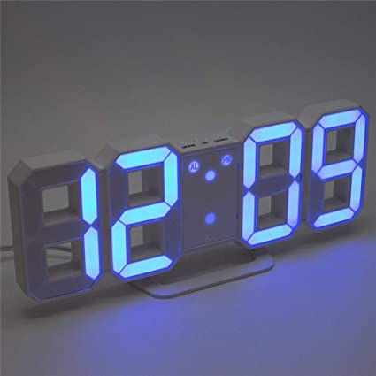 Geinente El Reloj de Alarma Digital electrónico del LED, Reloj de Pared Digital 3D Puede