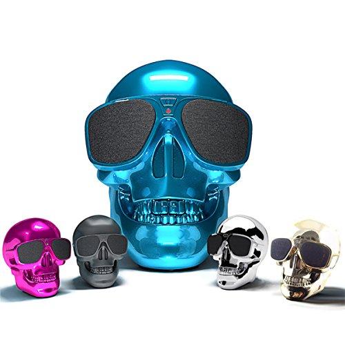 MASUNN Crâne Sans Fil Bluetooth Super Bass Haut-Parleur Stéréo Nfc 45W Subwoofer - Noir