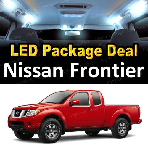 LED Interior Package Super Bright White Light Bulbs for 2012 Nissan Frontier (5 Pieces)