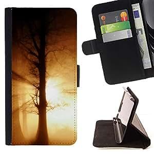 For Apple (5.5 inches!!!) iPhone 6+ Plus / 6S+ Plus Case , Naturaleza Hermosa Forrest Verde 188- la tarjeta de Crédito Slots PU Funda de cuero Monedero caso cubierta de piel