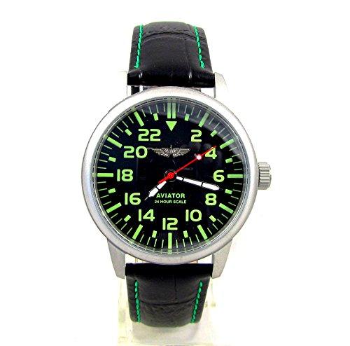 Poljot Aviator mens wrist watch Custom 17 Jewels USSR RARE Serviced & (Russian Wrist Mechanical Watches)