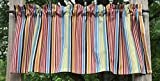 Cheap Orange Red Beige Brown Blue Green Striped Handcrafted Custom Sewn Curtain Valance with Stripes