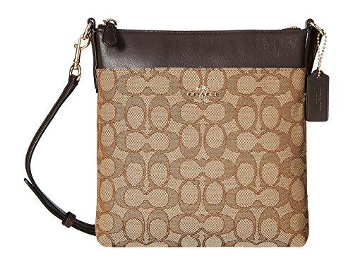- COACH Women's Signature North/South Swingpack Light/Khaki/Brown One Size
