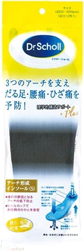 ドクターショール トリプル・アーチ・サポート・インソール Sサイズ 22.0~23.5cm 1足分(2枚入)